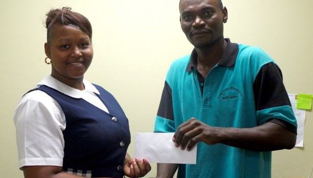 Entrepreneur Elvis Warner makes donation to Shyan Liburd