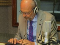 His Excellency Ambassador Mikael Barford in the Von Rebop Southwell at ZIZ Radio (photo by Erasmus Williams)