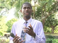 Theon Tross, President of the Nevis Youth Council