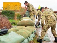 Military personnel continue to provide support in areas affected by floods as part of cross-Government and multi-agency relief efforts