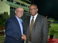 t. Kitts and Nevis' Minister of Sports Hon. Glenn Phillip (right) and former Minister of Sport and current Minister of Tourism, International Transport, International Trade and CARICOM Representative on the West Indies Cricket Board, Sen. the Hon. Ricky Skerritt.