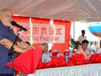 President Donald Ramotar speaking on the occasion of the opening of the Chinese owned Zhanghao Shipyard in Guyana