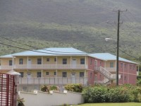 The new but temporary home of the Ministry of Education and the Department of Education on Nevis at the Pinney's Industrial