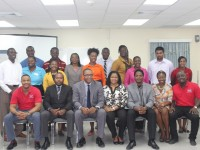 CEBO Participants, facilitators, and Minister of Youth Empowerment Hon Glen Phillip (center).