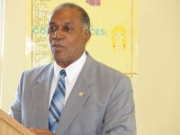 Premier of Nevis and Minister of Education in the Nevis Island Administration, Hon. Vance Amory delivering remarks at the opening ceremony of the 2014 Prospective Teachers Course hosted by the Department of Education at Pinney's on June 23, 2014