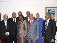 St. Kitts and Nevis' Commissioner to the OECS, Her Excellency Astona Browne (front row) with other Commissioners of the OECS member states  __._,_.___
