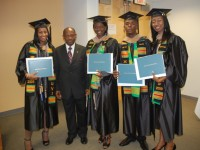 file photo of St. Kitts and Nevis students attending the St. Thomas Campus of the University of the Virgin Islands (UVI) with St. Kitts and Nevis Prime Minister the Rt. Hon. Dr. Denzil L. Douglas.