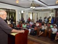 President Donald Ramotar addressing the media