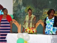 Head table- (l) Mrs. Lornette Hanley, Mrs. Naomi Douglas and Ms. Maricia Grant