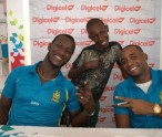 St. Lucia Zouks captain, Darren Sammy, met fans at the Digicel store in Castries ahead of three crucial home games