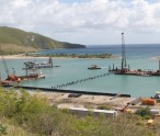 The Christophe Harbour under construction