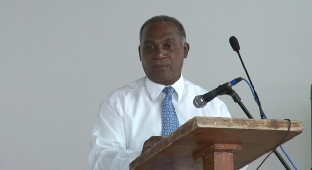 remier of Nevis Hon. Vance Amory while delivering remarks at the opening ceremony of the St. Kitts and Nevis Fire and Rescue Services Summer Safety Programme on July 16, 2014, at the Cotton Ground Community Centre