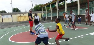 Some of the children at NABA Basketball camp