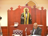 Speaker of the National Assembly, the Hon. Curtis Martin