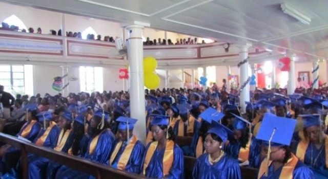 File photo of Nevis Sixth Form and Charlestown Secondary School graduation