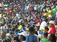 Photo of the scene on and from the Mound during the Finals of the CPL
