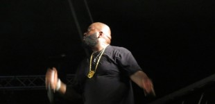 Rick Ross on stage in St. Kitts.