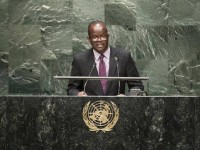 St. Kitts and Nevis' Minister of Foreign Affairs, the Hon. Patrice Nisbett addressing the 69th Session of the United Nations General Assembly on Monday night.