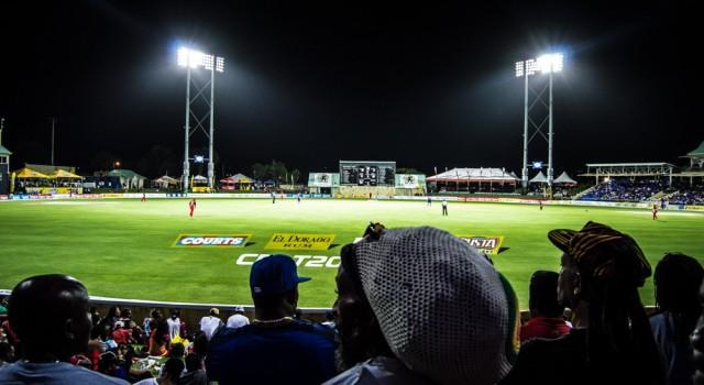 Fans enjoy a CPL match at Warner Park