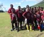 Winning IWPS team with coach Aljay Newton