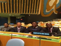 Minister of Foreign Affairs, the Hon. Patrice Nisbett at United Nations