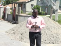 Minister of Communications and Works on Nevis Hon. Alexis Jeffers at Colquhoun Development