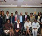 St. Kitts and Nevis' Minister of Health, Hon. Marcella Liburd (seated second from the left on the front row) with OECS colleagues and other health officials.