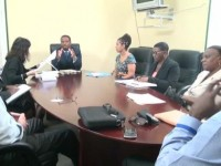 Deputy Premier of Nevis Hon. Mark Brantley meeting with a team of consultants from the United Nations Educational Scientific and Cultural Organization   in Paris, local UNECSO representatives and education officials at the Cabinet Room of the Nevis Island Administration on November 18, 2014