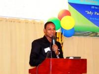 Pastor Boris Johnson Delivering Presentation on night 1