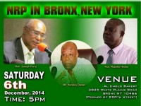 Advertisement of Nevis Reformation Party in New York