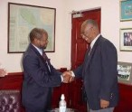 St. Kitts and Nevis' Prime Minister the Rt. Hon. Dr. Denzil L. Douglas  and then Premier, the Hon. Joseph Parry