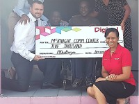 Team Digicel Presents a $5000 Cheque to the McKnight Community Center