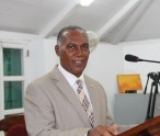 Premier of Nevis and Minister of Finance in the Nevis Island Administration Hon. Vance Amory delivers the 2015 Budget Address at the Nevis Island Assembly
