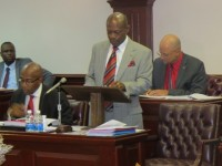 St. Kitts and Nevis' Prime Minister and Minister of Finance, the Rt. Hon. Dr. Denzil L. Douglas speaking on the 2015 Budget