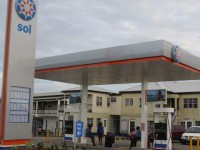 Gillards/SOL Gas Station on the F.T. Williams Highway. (Photo by Erasmus Williams)
