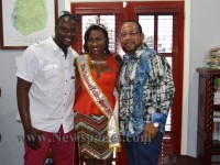 Founder of Miss Caribbean Culture Pageant, Mr. Randy Jeffers along with the 2014/2015 Miss Caribbean Culture Queen, Yarayni Morton and businessman Mr. Gregory 'Greg' Hardtman
