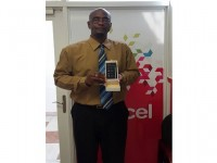 Digicel Customer Paul Martin was Determined to Win December's Text to Win Game