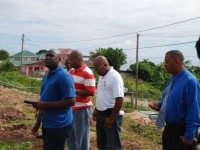 Honourable  Alexis Jeffers, Permanent Secretary in the Ministry of Agriculture Eric Evelyn, and other guests