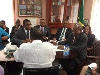 The Federal Government lead by Prime Minister the Rt. Hon. Denzil L. Douglas in a Joint Meeting with the Nevis Island Administration of Premier Hon. Vance Amory with the International Monetary Fund (IMF).
