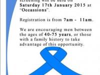 Prostrate screening flyer