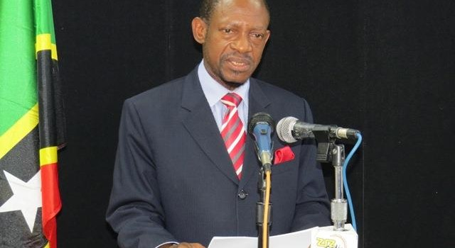 PM Douglas addressing the nation on Tuesday afternoon (Photos by Erasmus Williams)
