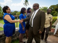PM Harris converses with Chamber of Industry and Commerce Intern