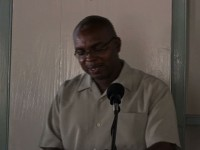 Permanent Secretary, Mr. Ernie Stapleton giving remarks at CARICOM Essay Competition Luncheon