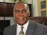 Premier of Nevis and Federal Minister of Labour, Social Security, Nevis Affairs and Ecclesiastical Affairs Hon. Vance Amory at his Bath Plain Office on March 25, 2015