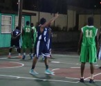CG Rebels in green and BVI team in purple