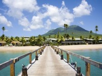 """This photograph, of the Four Seasons Resort with Nevis Peak in the backdrop, was taken by Peter Phipp and accompanied the Sunday Times article with the caption """"Nevis remains a laid-back West Indian gem"""""""