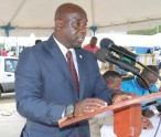 Minister of Agriculture on Nevis Hon. Alexis Jeffers at the opening ceremony of the Department of Agriculture's two-day 21st annual Open Day at the Villa Grounds in Charlestown on March 26, 2015