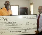 Grant present cheque