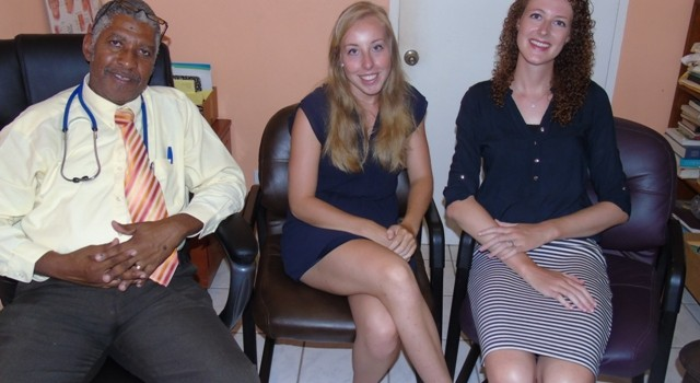 left to right-Dr. Glenville Liburd; Claudia Van Der Spyk and Elory Spiegels