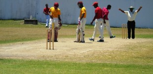 Ross Powell and Saeed Williams at the crease